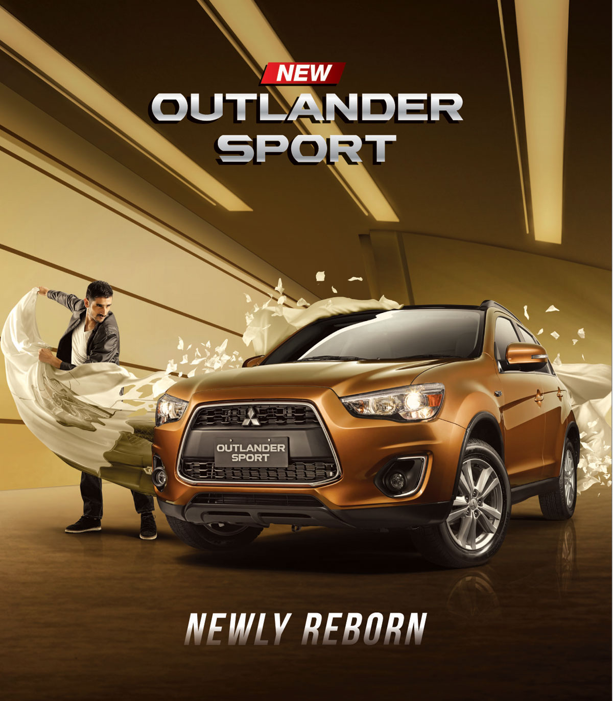 new mitsubishi outlander sport campaign car head lamp velg racing front bumper panoramic view interior cabin exterior view